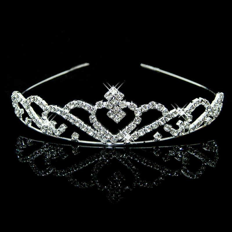 Joyme New Silver Crystal Rhinestone Pearls Hairbands For Women Bridal Wedding Hair Accessories Tiara Headbands Crown Hairwear(China (Mainland))