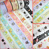 5 pcs / lot DIY Kawaii Japanese Washi Tape Cute Cartoon Animal Style Tape For Scrapbooking Stationery Gift Free Shipping 922