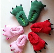 2013 Popular Winter cartoon animal all-inclusive claws at home lovers cotton-padded slippers indoor home shoes(China (Mainland))