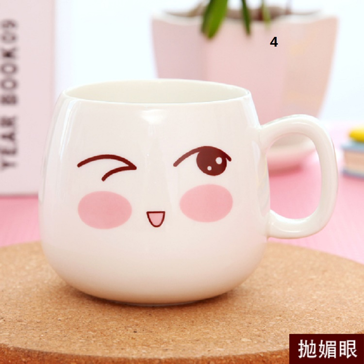 2016 Creative Cute Animal Ceramic Mug With Lid Monkey Mugs