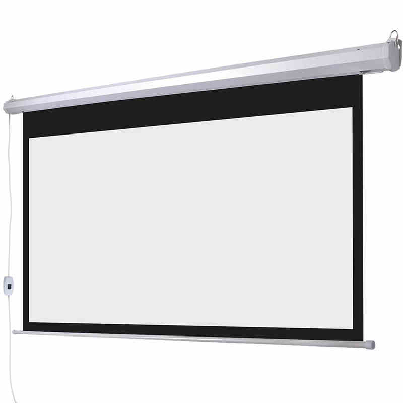 Quality 150 Inch Motorized Projection Screen 16:9 Matt White HD Projector Screens 3.32x1.87 Meter With Wireless Remote Control(China (Mainland))
