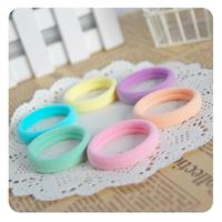 24pcs/lot Candy Colored Elastic Hair Ties Baby Hair Holder High Quality Kids Hair Accessories Girl Women Gum Multicolor