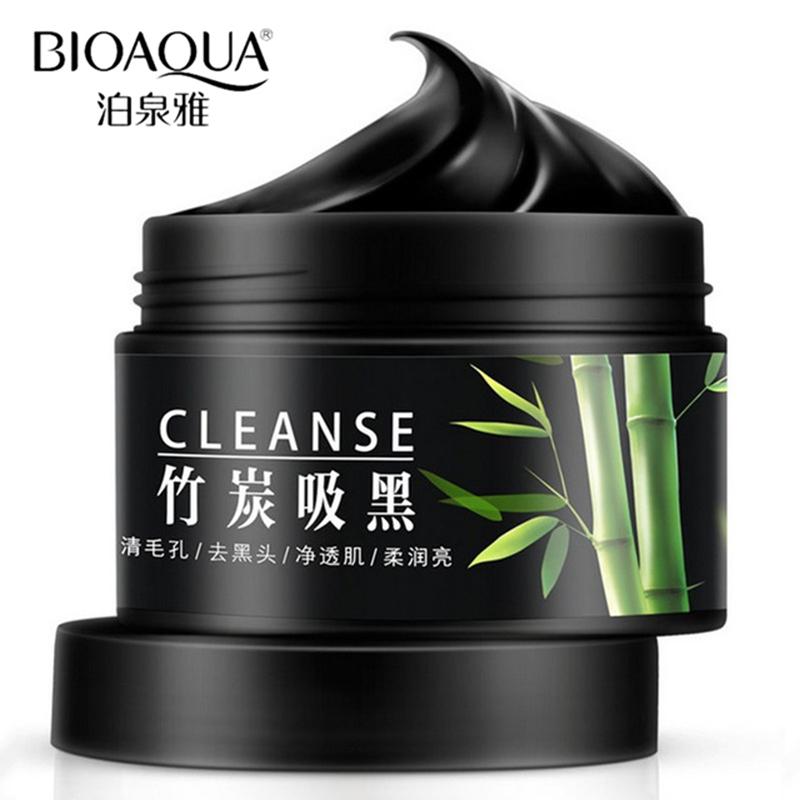 BIOAQUA Brand Face Masks Removal Blackhead Acne Scars Treatment Skin Care Shrink Pore Whitening Moisturizing Black Mask Cream