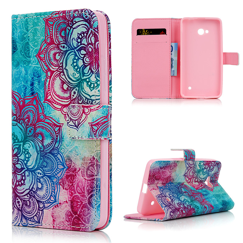 Fashion Flying House Leather Cover For Microsoft Nokia Lumia 640 Wallet Phone Case For Nokia 640 N640 Flip Stand Bag Card Holder(China (Mainland))