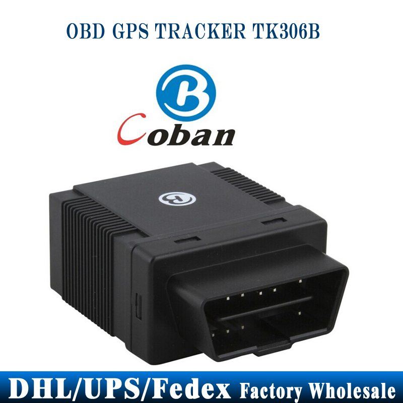 DHL UPS 10pcs/lot Coban 306B TK306B Car GPS Tracker OBD2 ACC Alarm 2.4G Attendance Mangement Auto(China (Mainland))