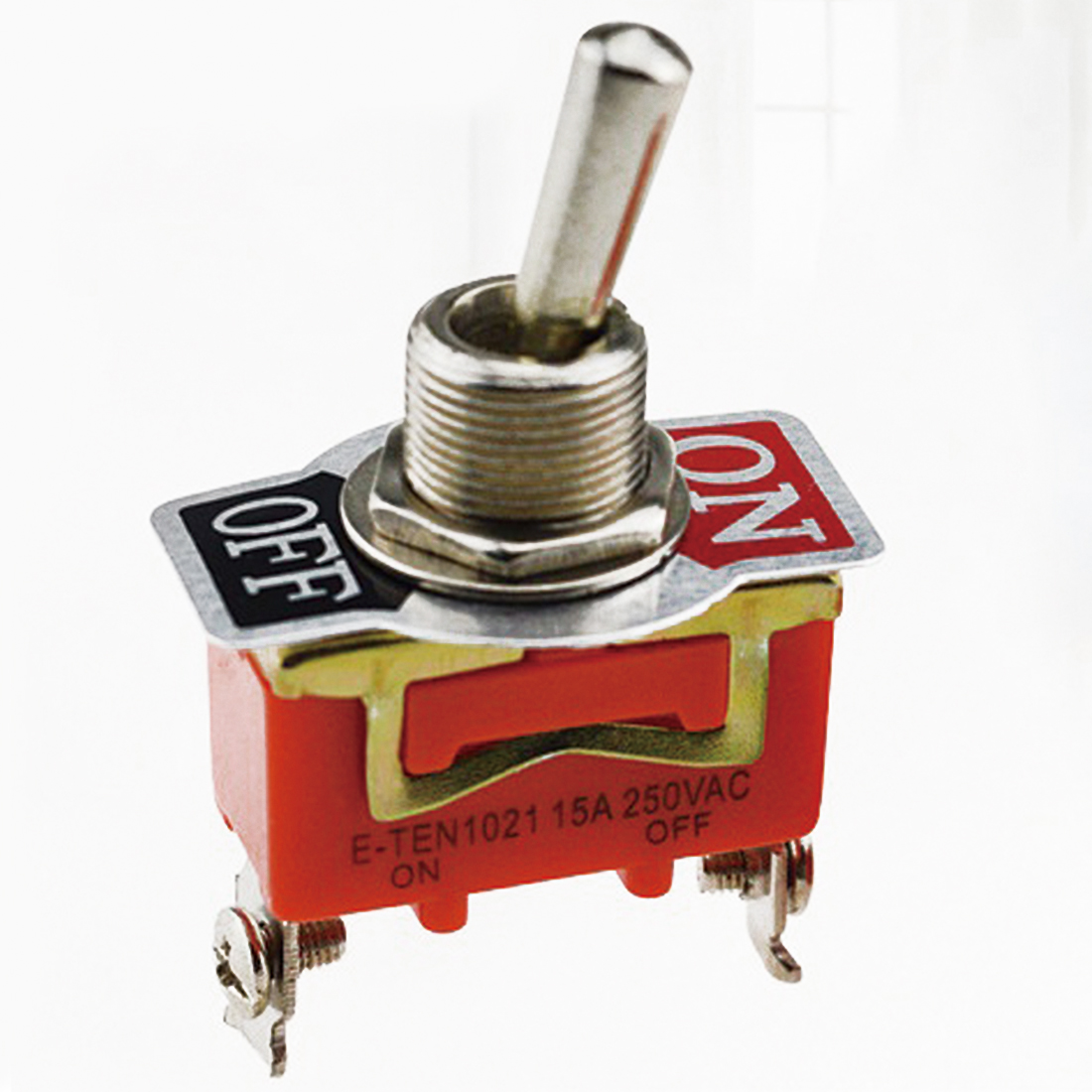 New Arrival 1pc New 15A 250V SPST 2 Terminal ON OFF Toggle Switch Mechanical Life 10 Million Times High Quality(China (Mainland))