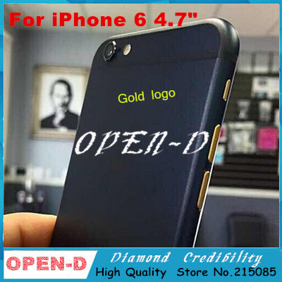 """Gold Color Replacement part Full Housing Back Battery Door Cover Middle Frame Metal Back Housing For iPhone 6 4.7""""(China (Mainland))"""