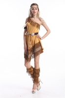 free shipping 2014 Hot Sales New Style Ladies Pocahontas Native American Indian Wild West Fancy Dress Party Costume