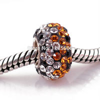 Retro 925 sterling silver Crystal big hole beads for women charms Jewelry pendants Accessories fit Necklaces & bracelets