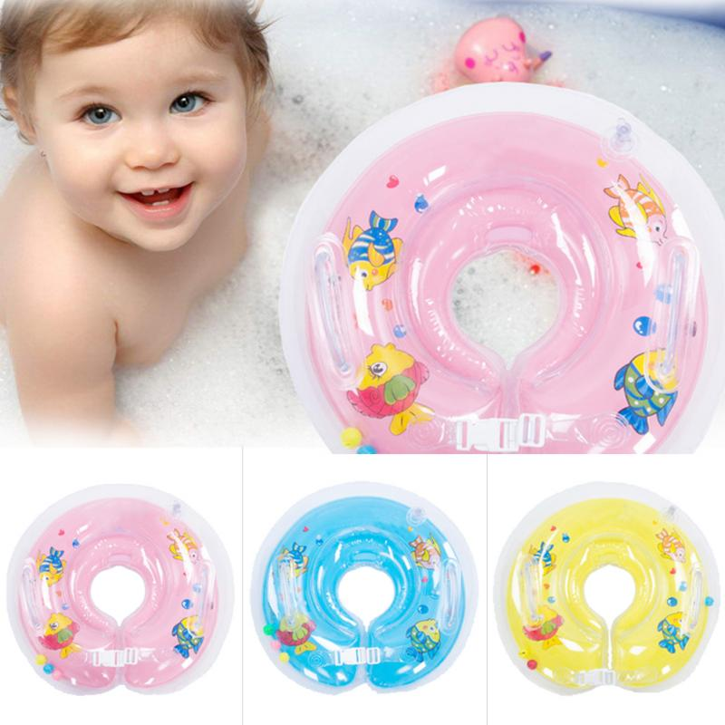 2018 Baby Swimming Inflatable Circle New Born Infant Adjustable ...