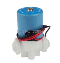 "DC24V Electric Solenoid Valve Water Flow Switch N/C Magnetic 1/4"" Quick Plug Connect for RO reverse osmosis controller(China (Mainland))"