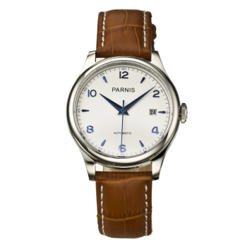 Parnis Watch geneva Automatic watch watches men luxury brand sport dress business Fashion Casual watch military BR white PA2113G(China (Mainland))