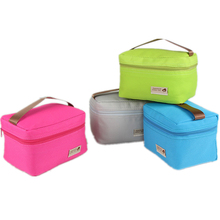 Practical Small Portable Ice Bags 4 Color Waterproof Nylon Cooler Bag Lunch Bag Leisure Picnic Packet Bento Box Food Thermal Bag(China (Mainland))