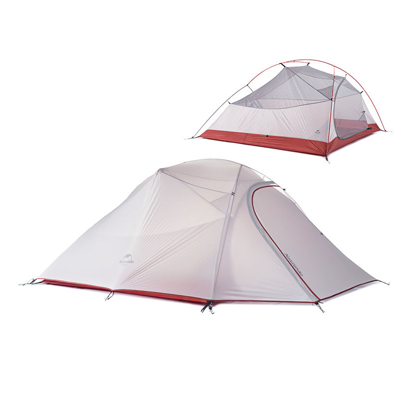 1.8KG Naturehike travel Camping Tent equipment outdoor ultralight tents travel 3 person double layer waterproof hiking 4 season