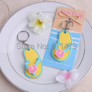 """+Fashionable Style """"Flip Flop"""" Rubeer Slipper Key Chain Favors+10 - Perfect Wedding Favors Co.,Ltd store"""