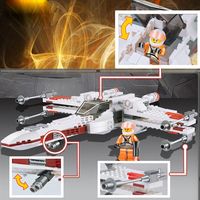 ZW 75102 Star Wars 7 Red Five Poe's X-Wing Starfighter Tie Fighter Original Blocks Bricks Building Kits Compatible With Legoe