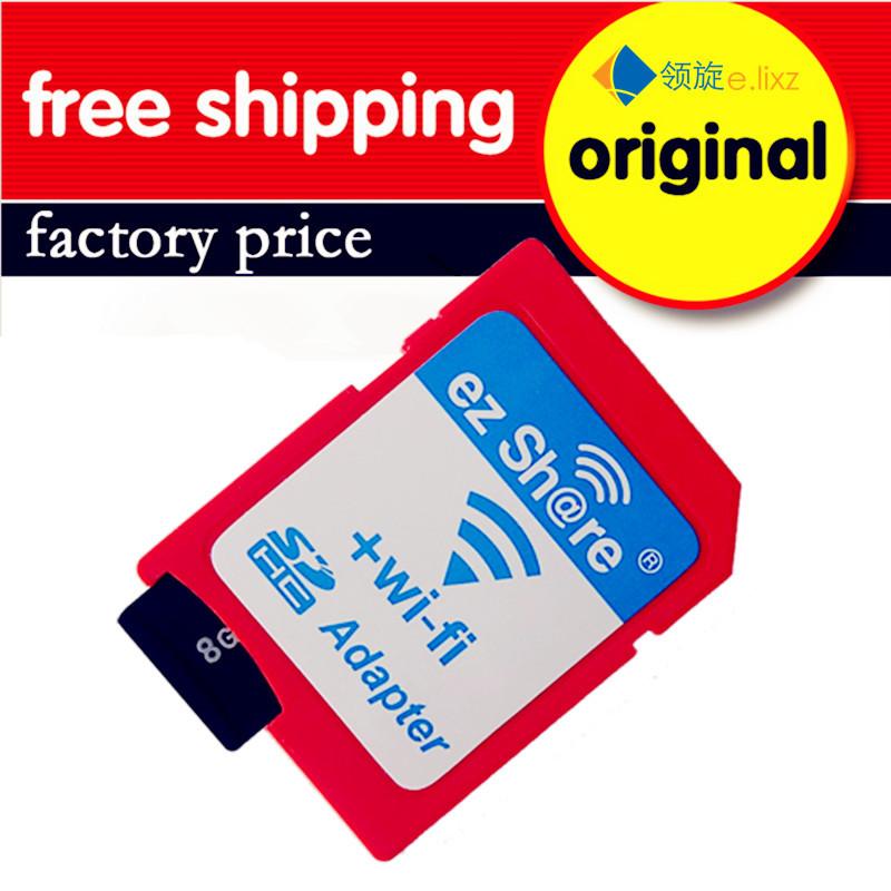 Free shipping ez Share Micro SD Adapter Wifi Wireless 8G 16G 32G Class 10 Memory Card TF MicroSD Adapter WiFi Cartao de memoria(China (Mainland))