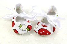 Strawberry printing First Walkers Toddler Shoes 2015 Baby Shoes