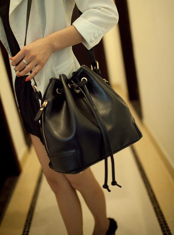 VN 2015 bucket bag fake leather women shoulder bags brand women handbag candy color messenger crossbody bag designer handbags(China (Mainland))