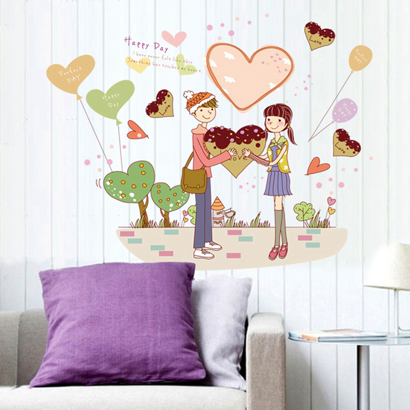 Wall Sticker Wall Decal Home Decor Adhesive Art Mural wife spouse sweetheart beloved husband precious lover beau mj7011(China (Mainland))