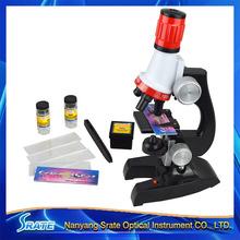 Дети Дешевые Игрушки 100X 400X 1200X Увеличить Подсветкой Монокуляр Пластиковые Биологический Микроскоп для детский День Рождения Образовательных Подарок