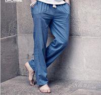 2016 Fashion Men linen pants Comfortable Male trousers jogger pants casual straight pants plus size M-3XL Free Shipping