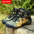 BAIDENG fashion outdoor climbing hiking boots waterproof men boot new style outdoor mountain trekking shoes hunting