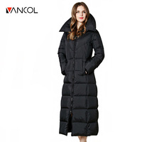 2016 New Arrival European Russia Plus Size Thick Warm Maxi Ladies Winter Coat Outwear For -40'C Women Long Goose Down Jacket