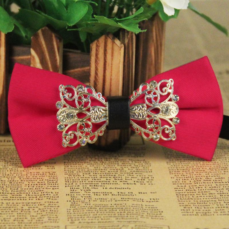 2016 Classic Vintage Black Bow Tie for Men Jacquard Polyester Solid Party Bowtie Fashion Popular Mens Wedding Bowties Gravata