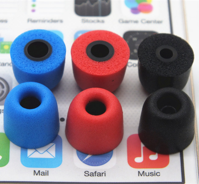 12 pcs noise isolation foam tips Comply T100 T200 T400 T500 Ear Pads for all in ear earphone headset headphone enhanced bass(China (Mainland))