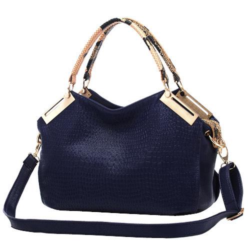Fashion Women Grace PU Leather Handbags Stone Grain Shoulder Bags Classic Lady Crocodile Tote Bolsas(China (Mainland))