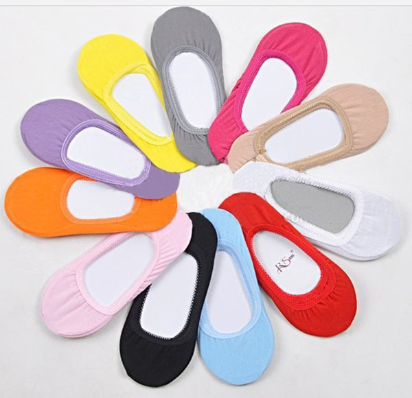 3 Pairs 1 Lot Female Socks Women Invisible Sock Slippers 100% Cotton Shallow Mouth Summer Thin Solid Color S00125 - TiNa Fashion Clothing Co., Ltd. store