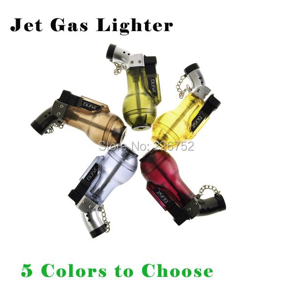 Cheap ! Portable Translucent Wine Bottle Shaped Refillable Butane Jet Lighter Cigarette Cigar Lighter(China (Mainland))