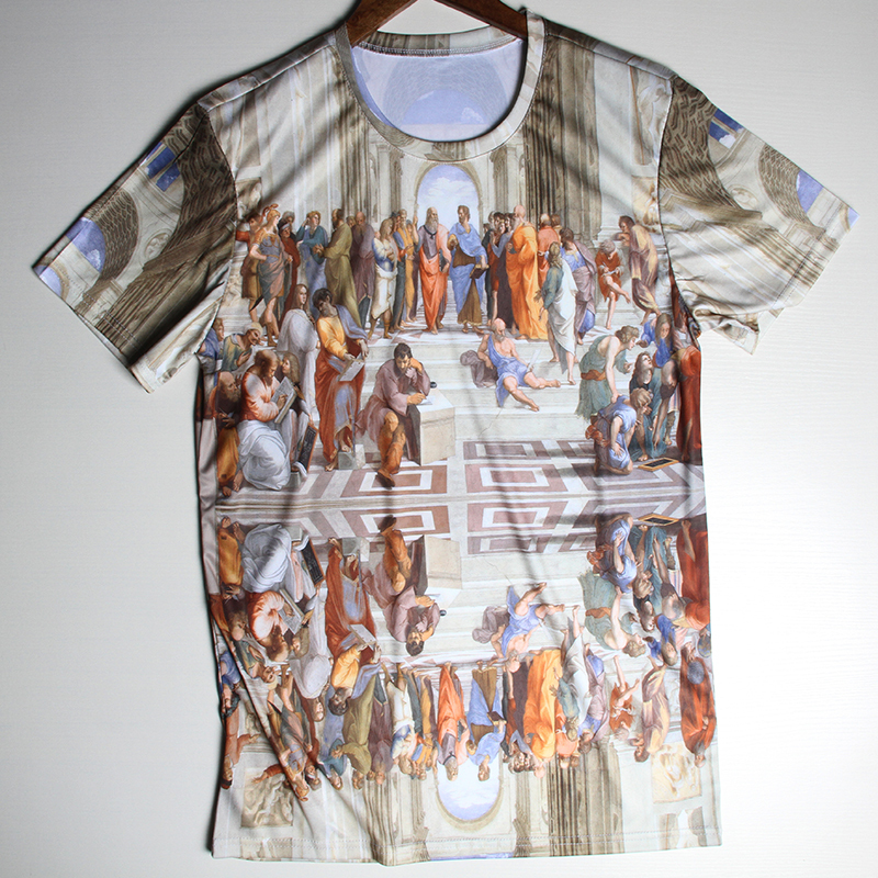Hot Sale Tops Punk Men T Shirts Church Religious Clothing Double Printed Retro Tshirts Bodybuilding Sportswear Man Tees(China (Mainland))