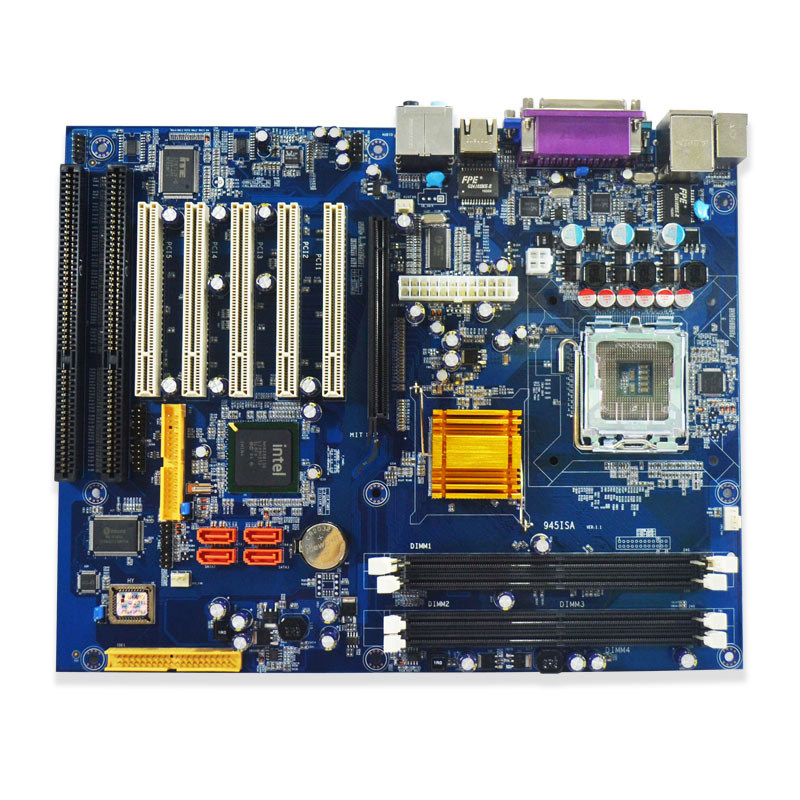 Factory Price Desktop Motherboard LGA775 Core 2/Pentium CPU DDR2 2xISA Slot 5xPCI Dual Nic Win XP Micro-ATX Desktop Motherboard(China (Mainland))