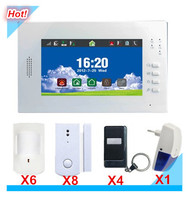 7inch Touch Screen LCD display Wireless Smart GSM Alarm System Safety Alarm system for home Security protection