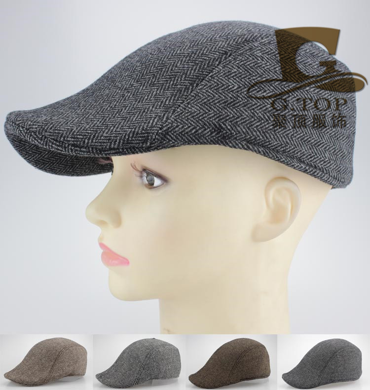 New twill cotton Peaked Newsboy Beret hat Cabbie peaked beret Cap(China (Mainland))