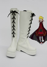 Custom made White Fate.Rebirth Len Shoes from vocaloid Cosplay