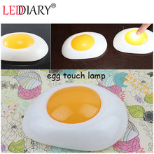 Creative LED fried egg touch lamp LED night light touch light for decoration/gift atmosphere lamp/light free shipping(China (Mainland))