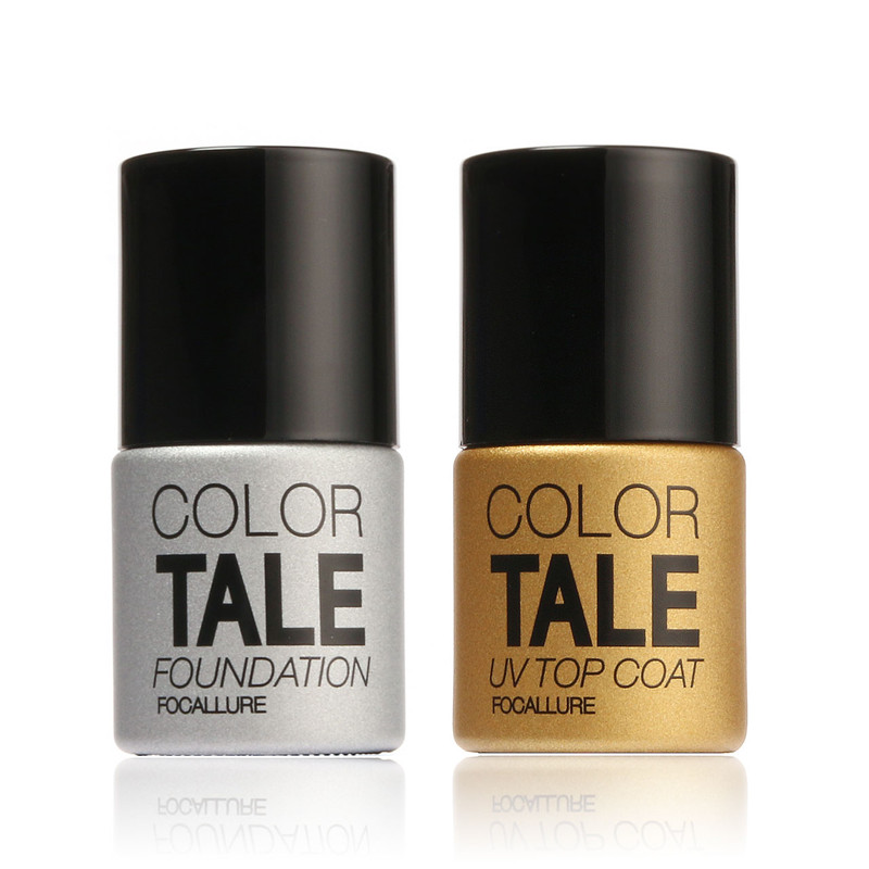 Brand New Focallure Diamond Nail Gel Top Coat Top it off + Base Coat Foundation for UV Gel Polish Best selling12ml(China (Mainland))
