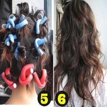 10Pcs/set Curler Makers Soft Foam Bendy Twist Curls DIY Styling Hair Rollers Tool for Women Accessories 1CXZ(China (Mainland))