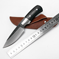 High carbon steel fixed blade hunting knife handmade forged damascus Camping Tactical Survival Knife Ebony handle