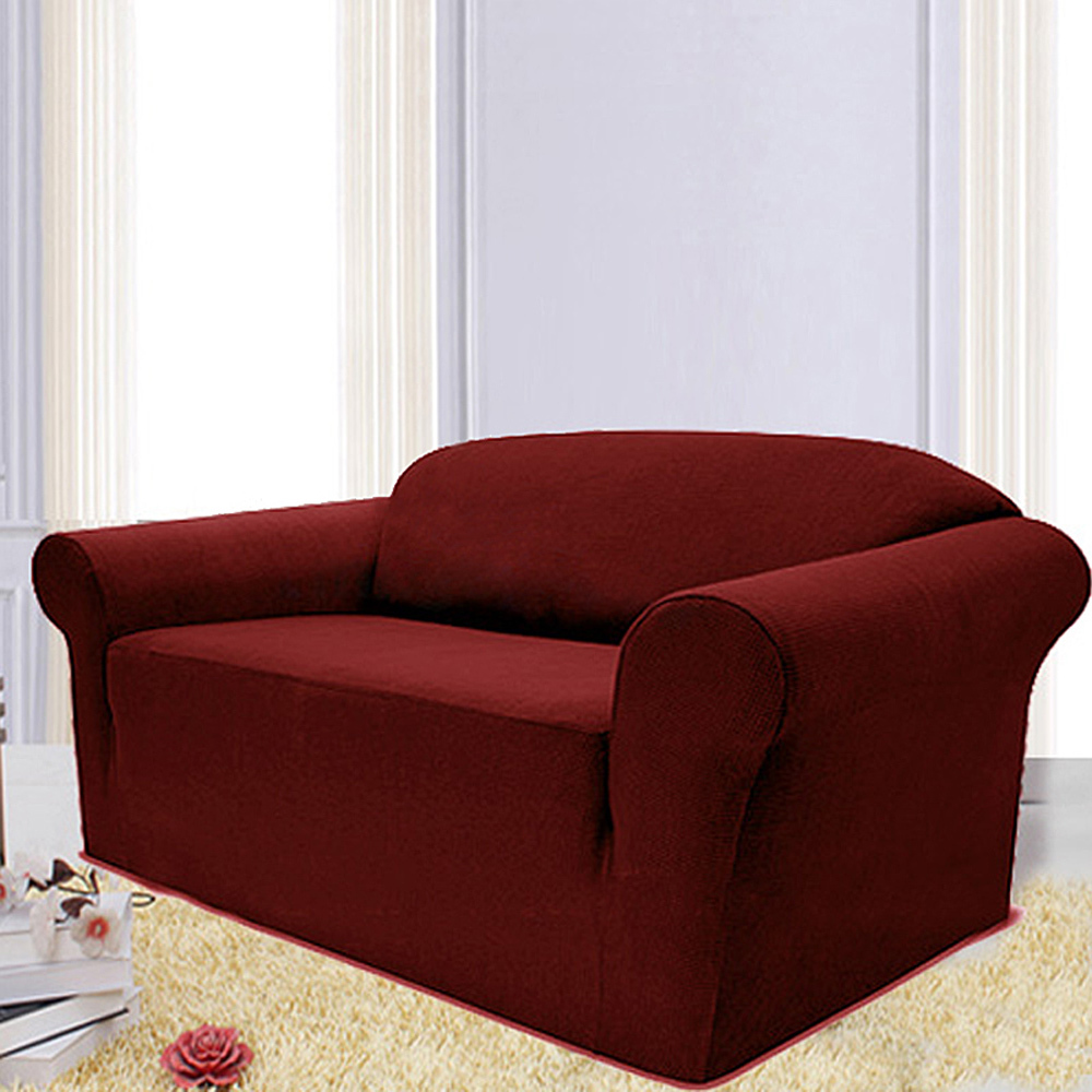 Stretch sofa chair couch cover slipcover protector super fit wine loveseat in living room sofas Couch and loveseat covers