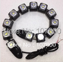HOT SALE 9W Universal Bendable 9 LED Waterproof Flexible DRL Daytime Running Light Fog Warning Lamp eagle eye free shipping(China (Mainland))
