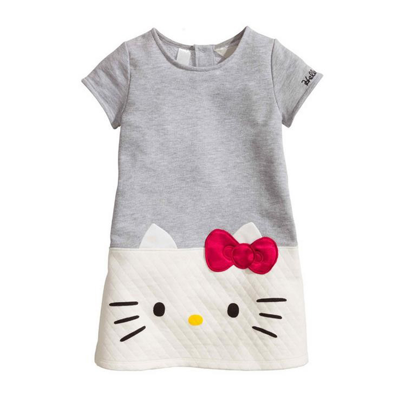 2016 Baby Girls Dresses Hello Kitty Children Clothing For Girls Princess Dress Christmas Kids Clothes(China (Mainland))