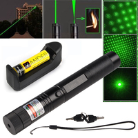 Free shipping Hot Laser Pointer Pen 2in1 5mw Green Violet Laser Pointer Pen SCC Laser Flashlight + battery + charger