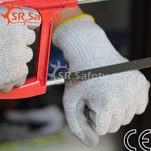 SRSAFETY Dyneema fiber with steel wire contexture working Protective Gloves Anti Abrasion Safety Gloves Cut Resistant Level 3(China (Mainland))