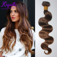 Annabelle Hair Malaysian Body Wave Ombre Human Hair Extensions #4/30 Malaysian Virgin hair Weave 4 Bundles Queen Hair Products