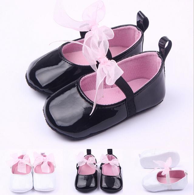 0 - 2 лет девочка первая прогулка обуви белые и черные кожаные ботинки младенца девушек ...