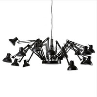 Wonderland Modern Fashion Pendant Chandelier Light Brief Iron Personalized Retractable Spider Art Deco Lamp 6/9/12/16 Heads